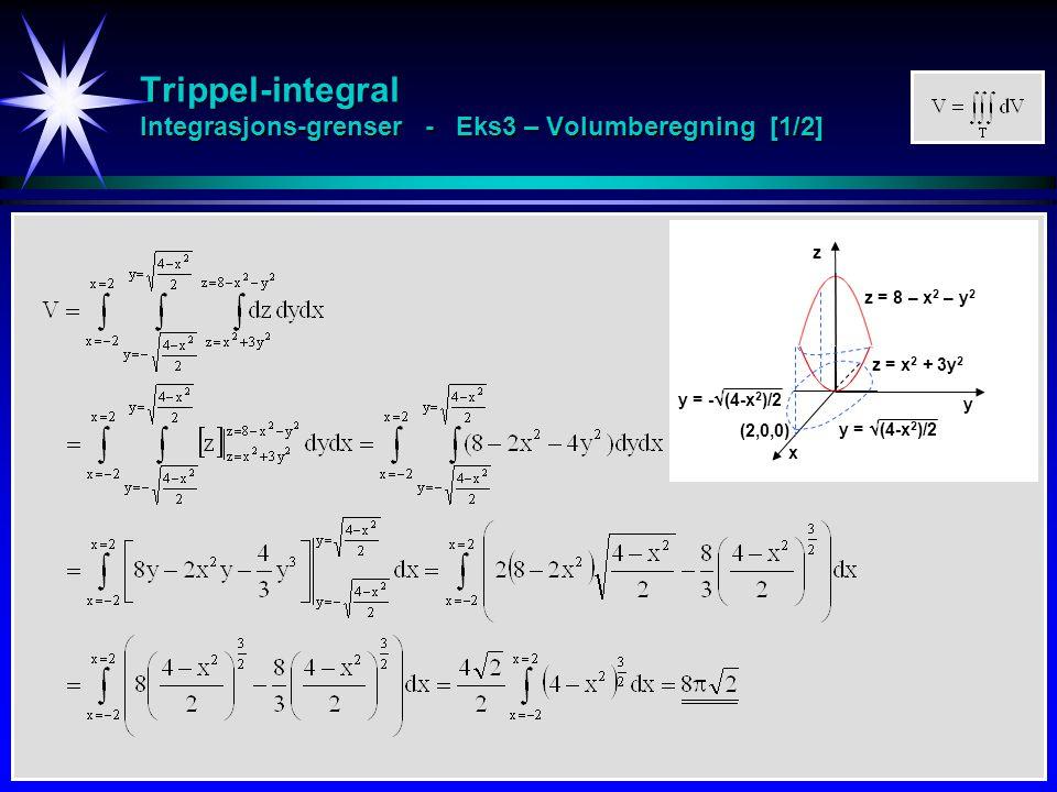 Trippel-integral Integrasjons-grenser - Eks3 – Volumberegning [1/2]